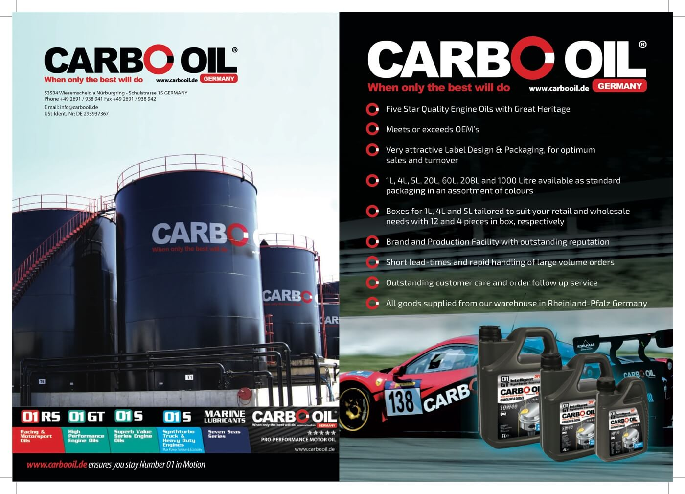 The Carbo-Oil advantage A4 page 1