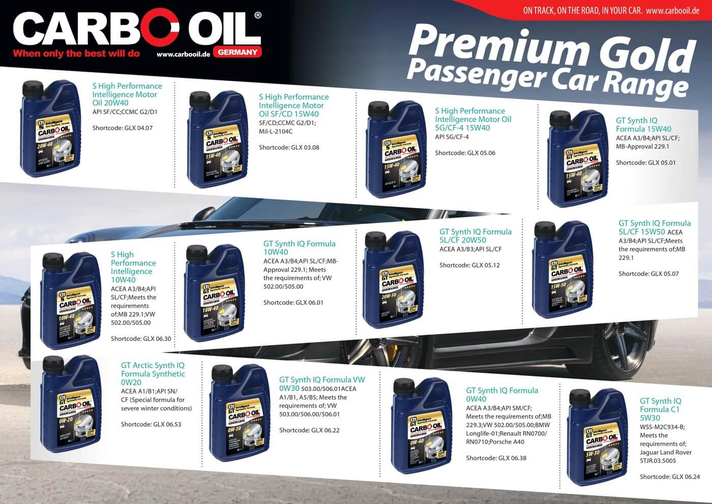 carbo oil premium gold range 1
