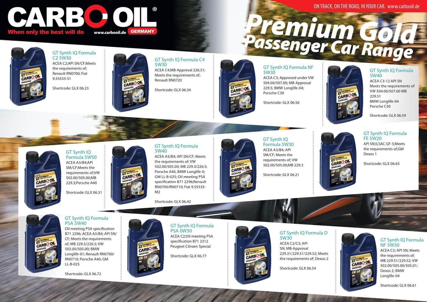 carbo oil premium gold range 2