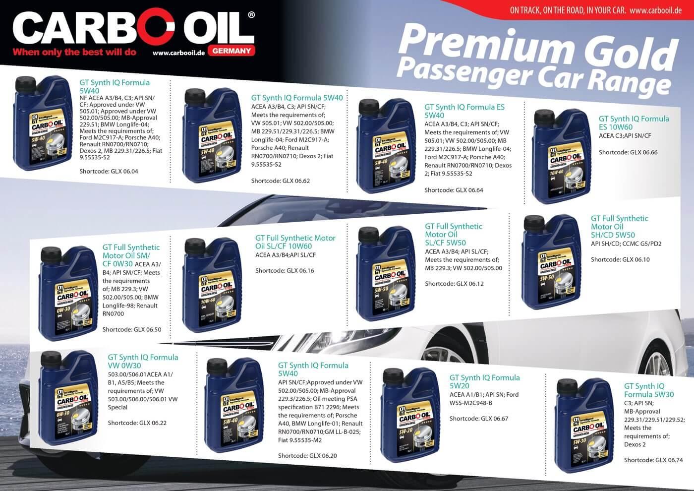carbo oil premium gold range 3