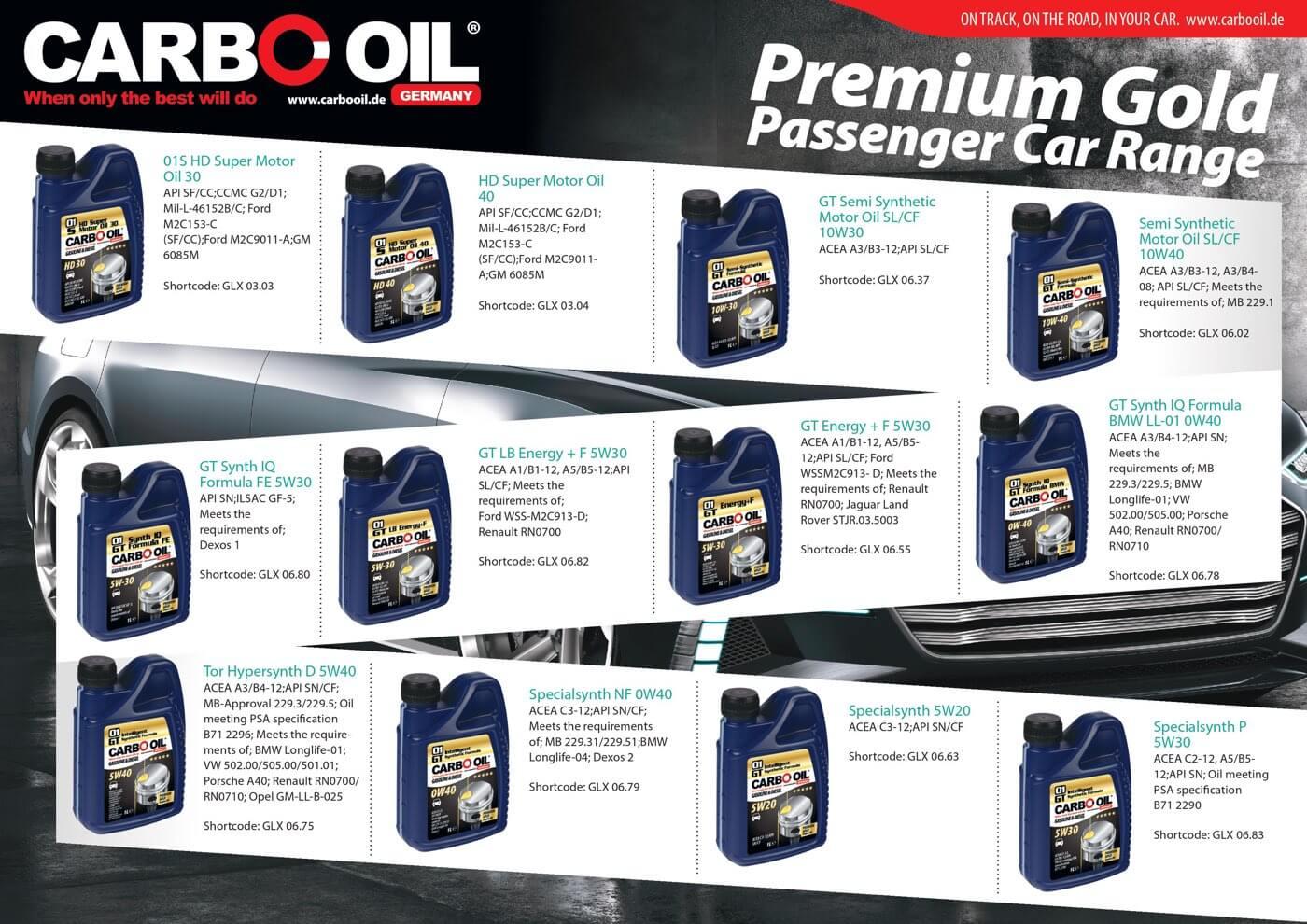 carbo oil premium gold range 4