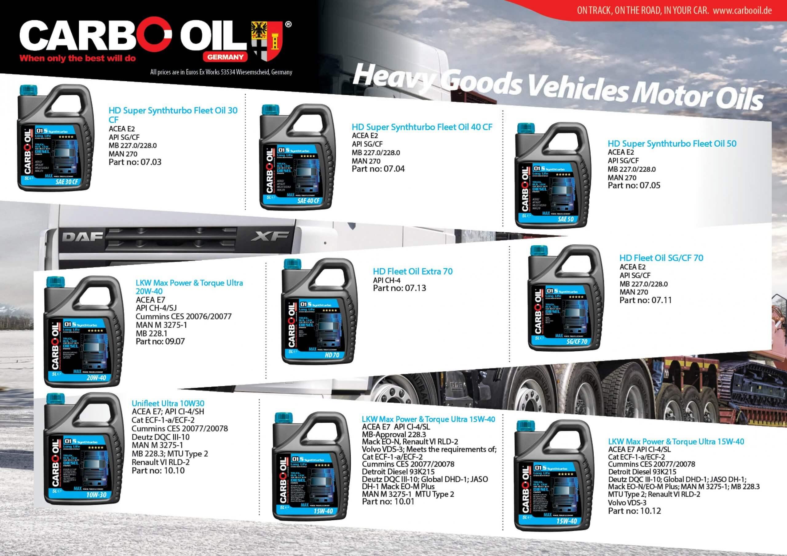 German truck oil