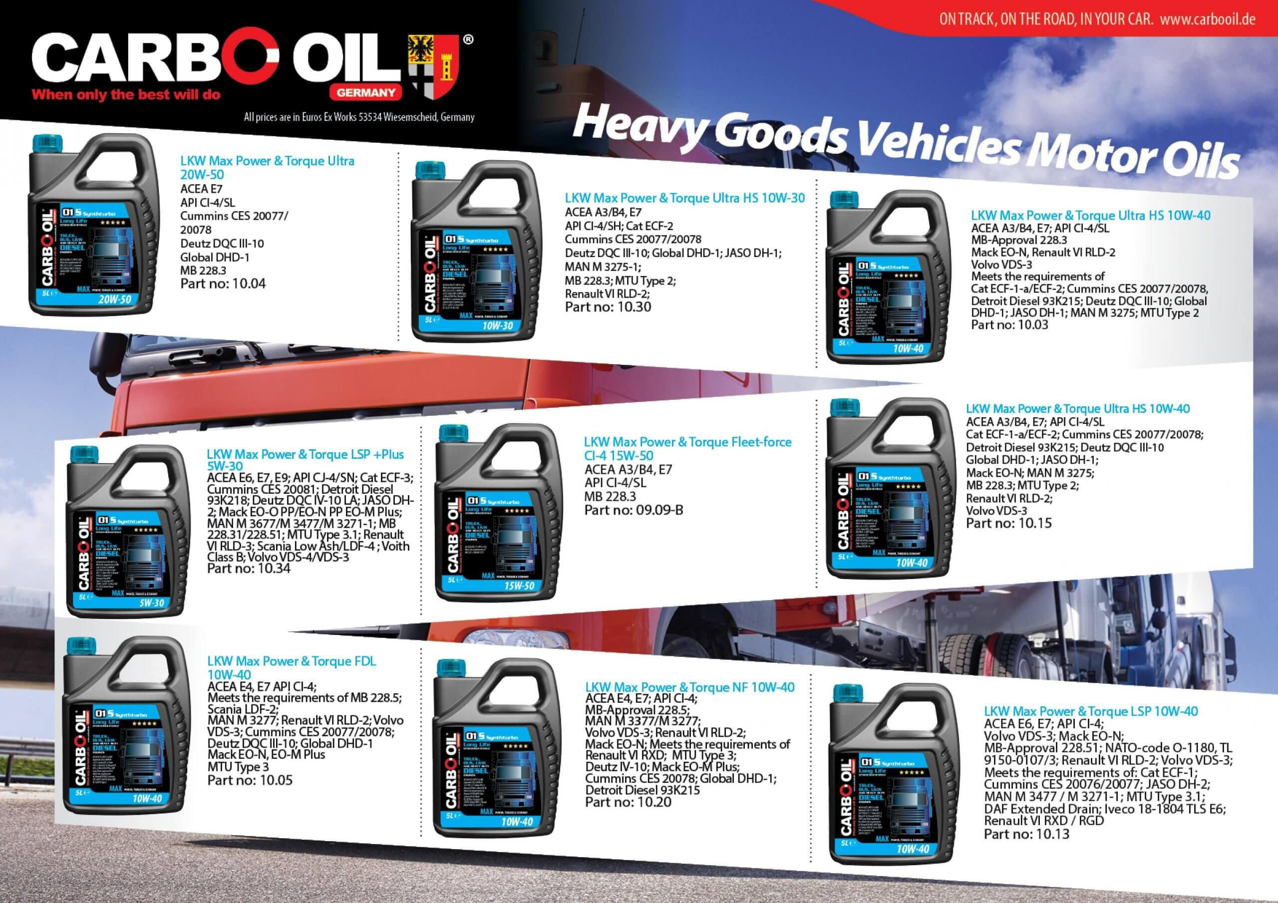 German truck oil 2