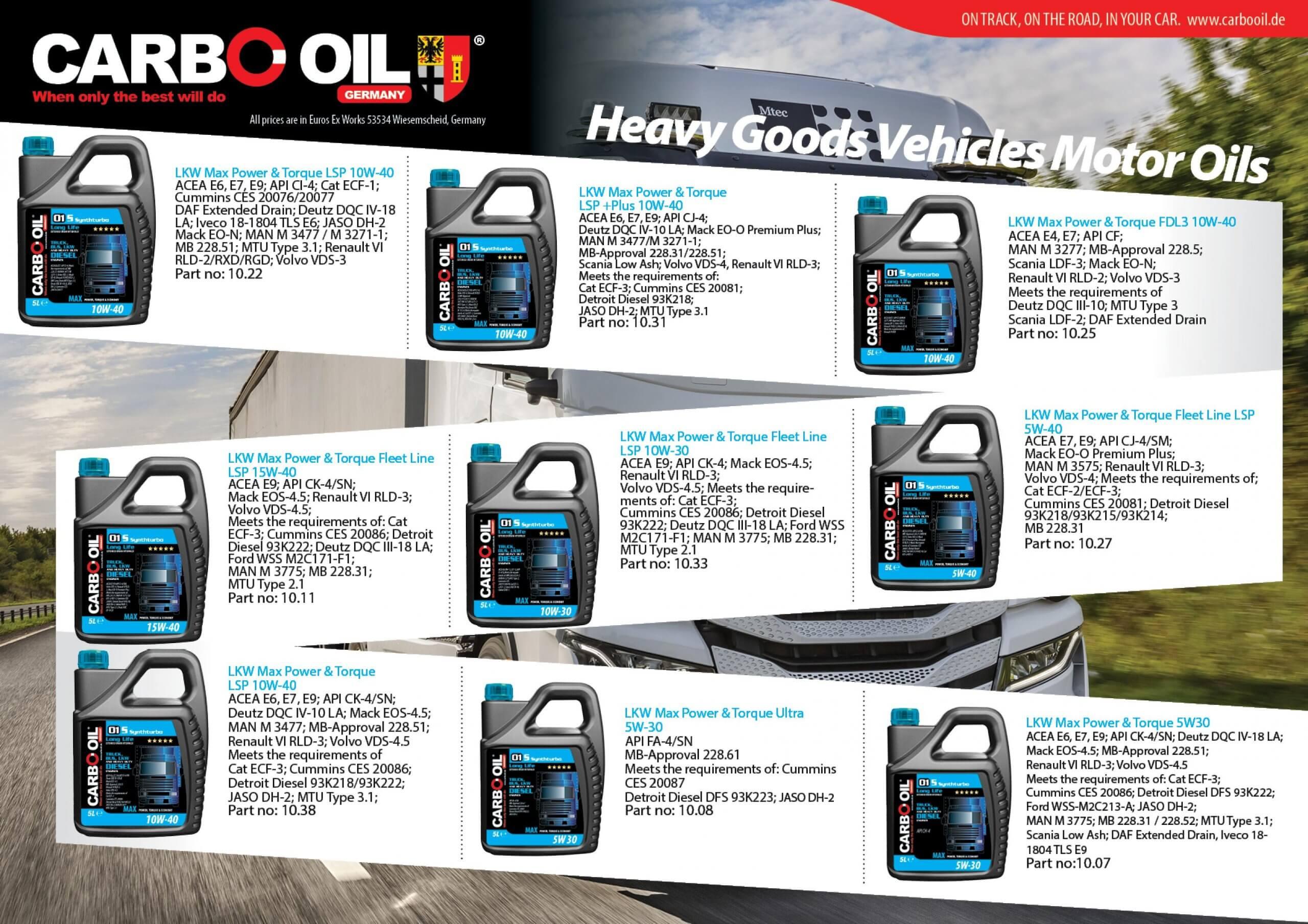 German truck oil 3