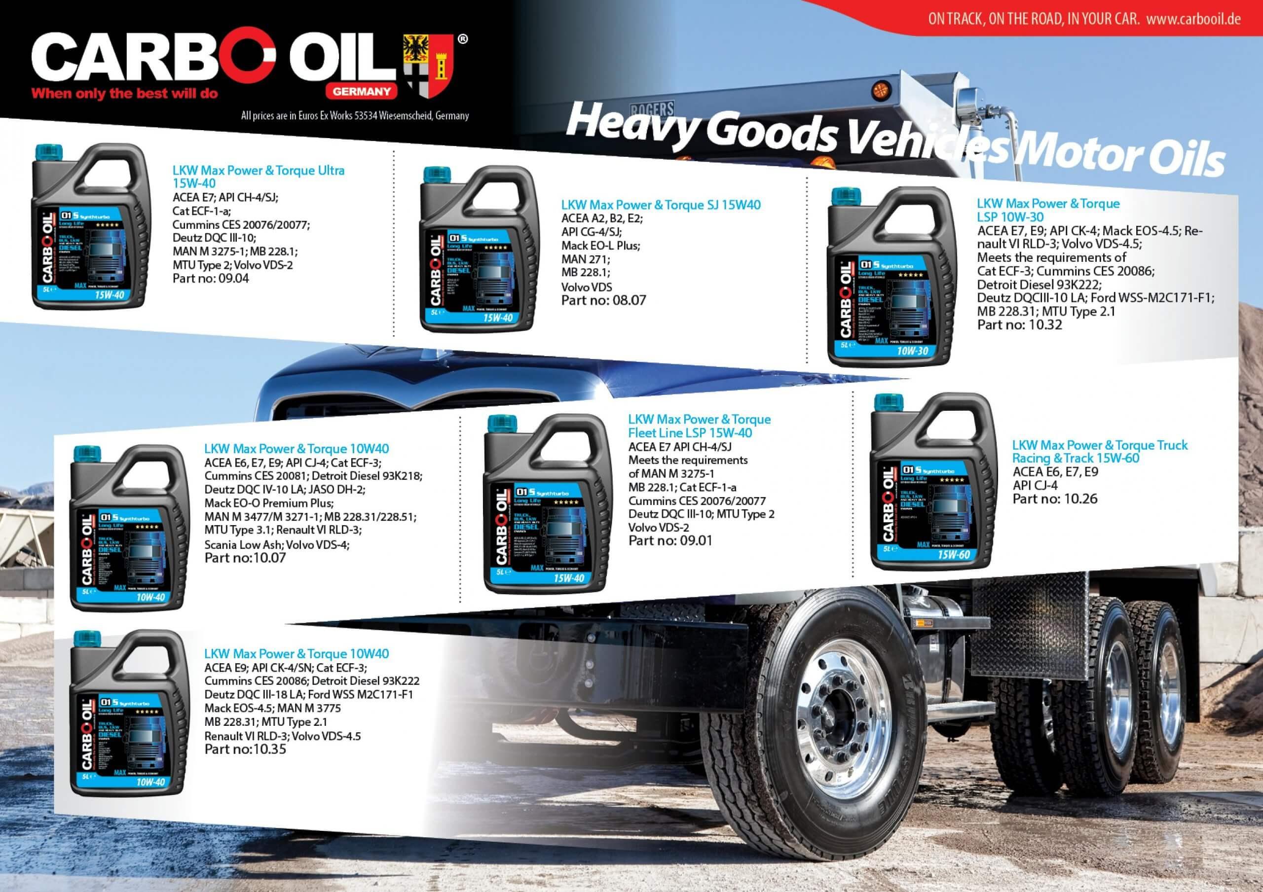 German truck oil 4